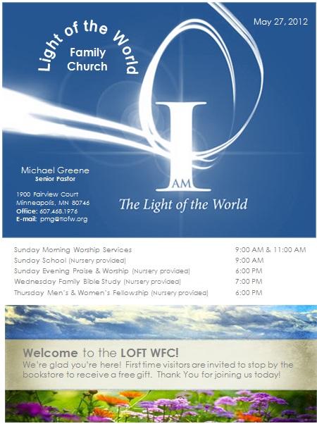 free church program template doc