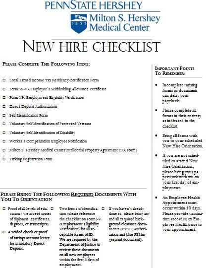 free new employee orientation checklist templates