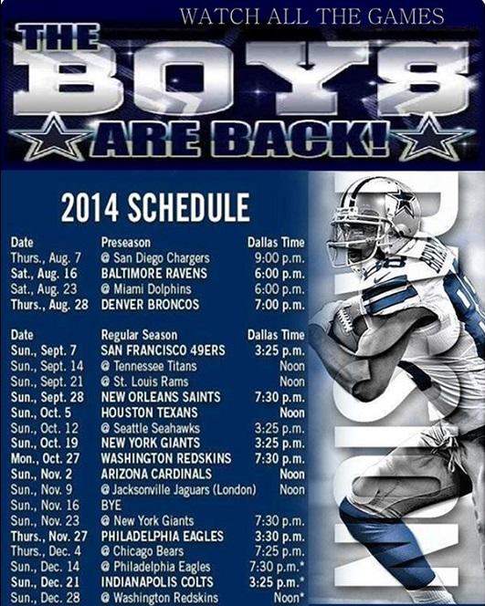 football calendar templates