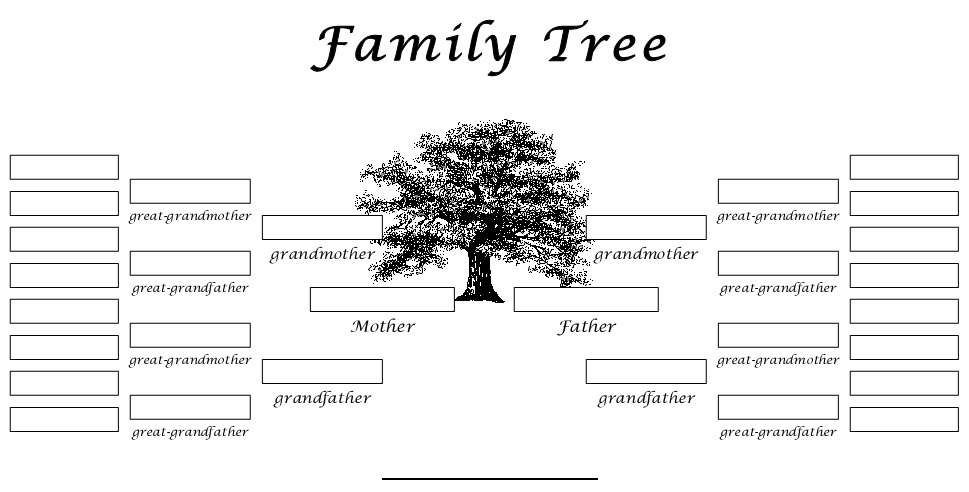 Free Family Tree Templates & Charts [Excel+Word+PDF]