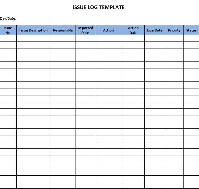 bug tracker excel template