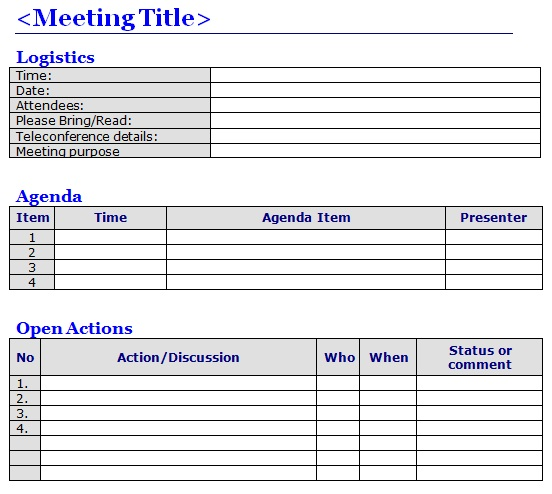 sample meeting invitation with agenda