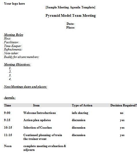 agenda format