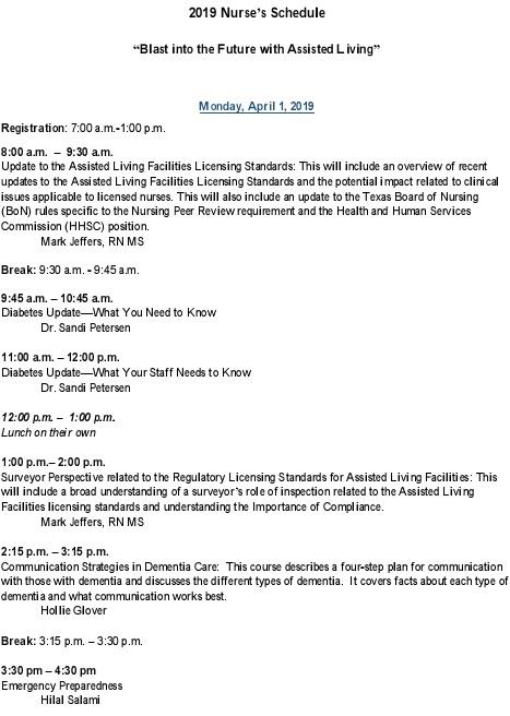 nurse practitioner schedule