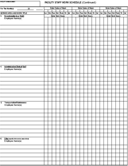 nursing duty schedule template