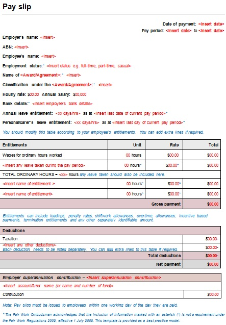 salary slip template 7