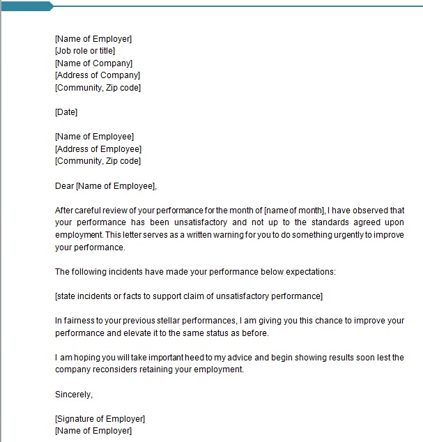 warning letter to employee 5