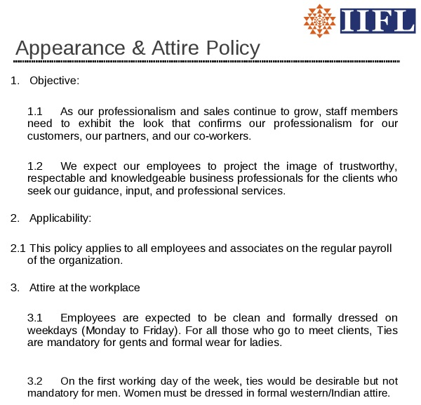 Free Dress Code Policy Templates for Employees [Word+PDF]