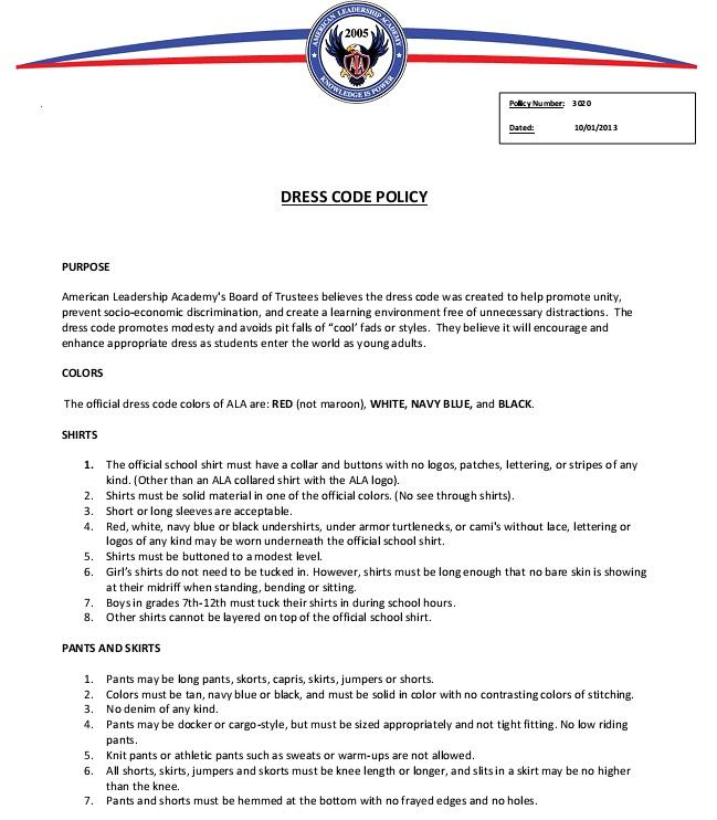 basic dress code policy