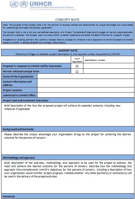 concept note template in word