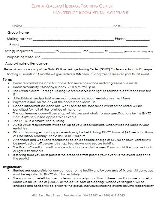 conference room rental agreement