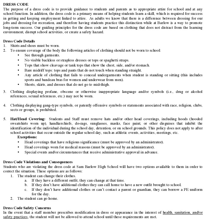 dress code policy template 1