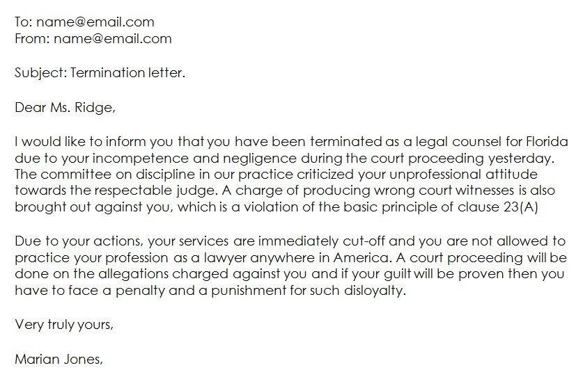 13+ Free Attorney Termination Letter Templates [Word]