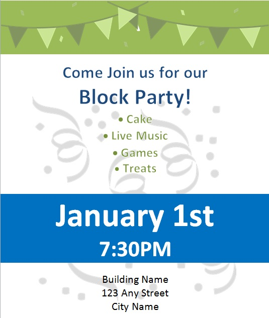 block party flyer template 1