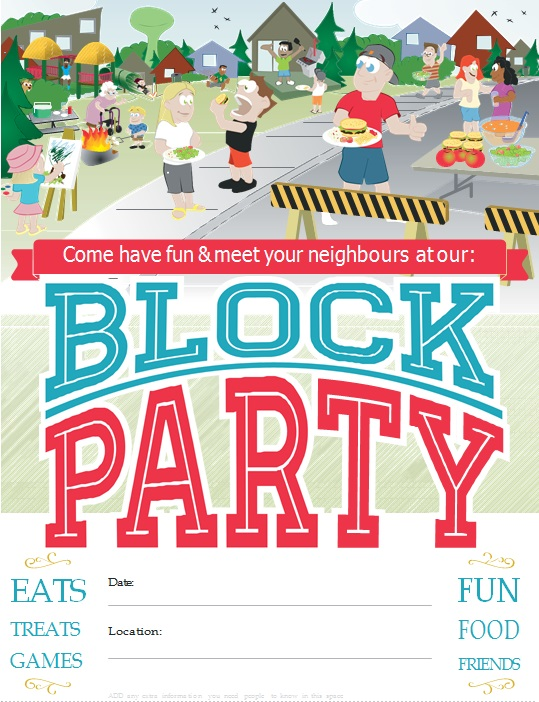 block party flyer template 10