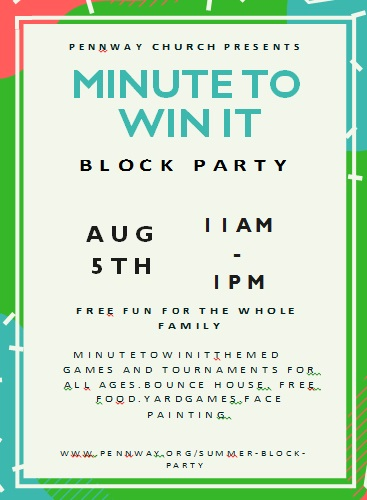 block party flyer template 13