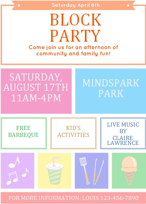 block party flyer template 2
