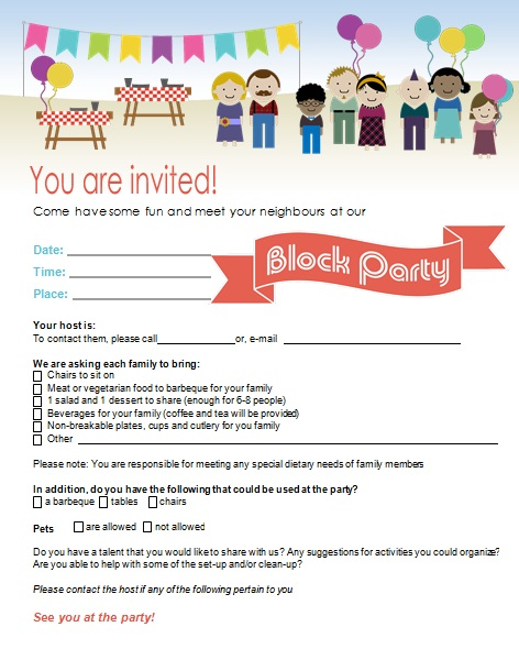 block party flyer template 3