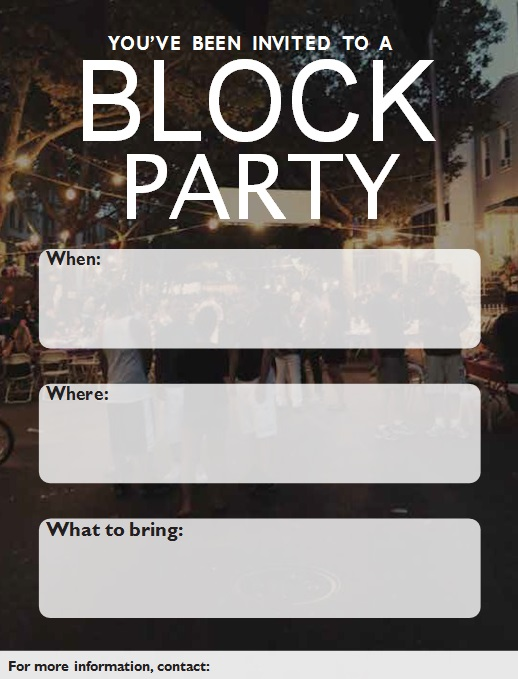 block party flyer template 4