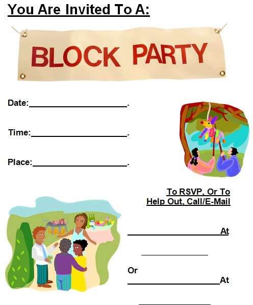 block party flyer template 6