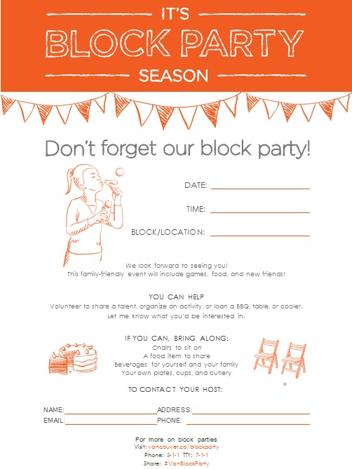 block party flyer template 7
