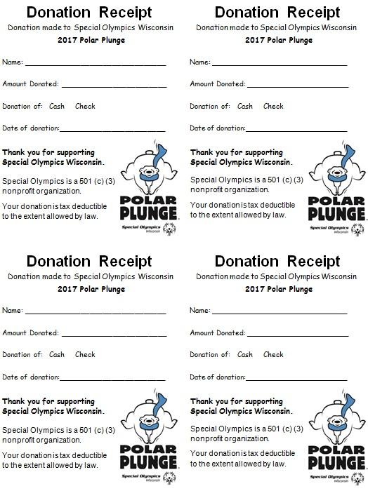 donation receipt template 1