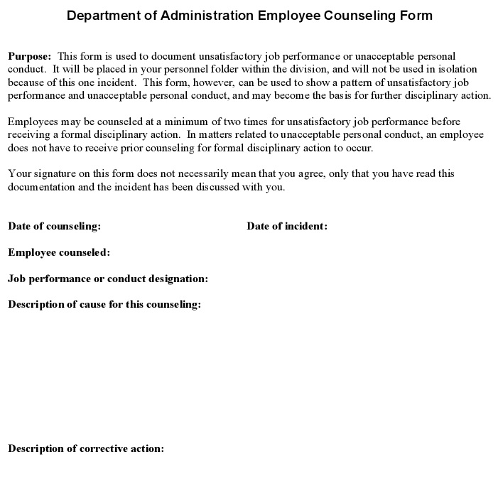 employee administration counseling