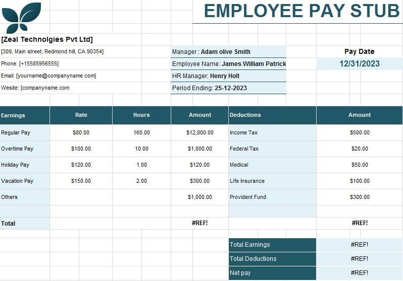 employee pay stub