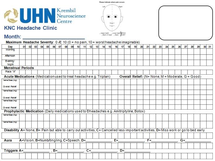 31+ Printable Headache Diary Templates [Excel+Word]