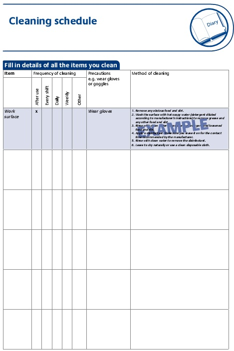 house cleaning checklist template free 1