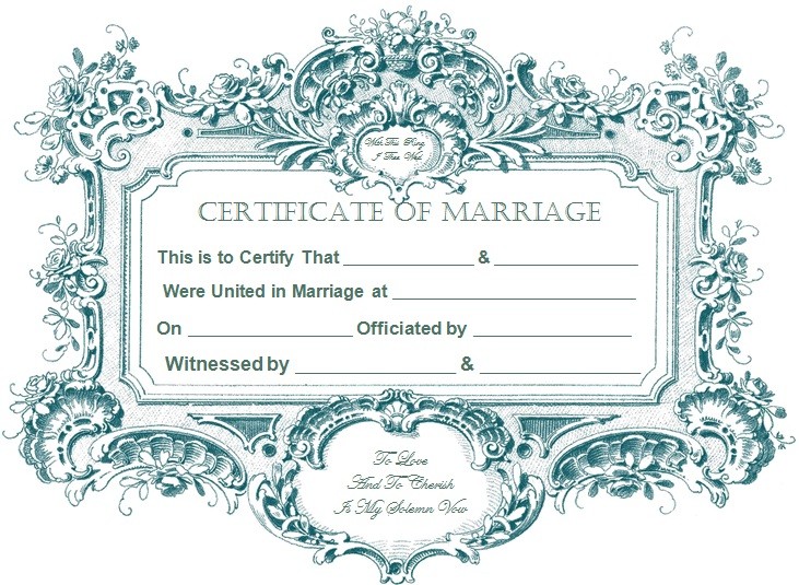 marriage certificate template 1