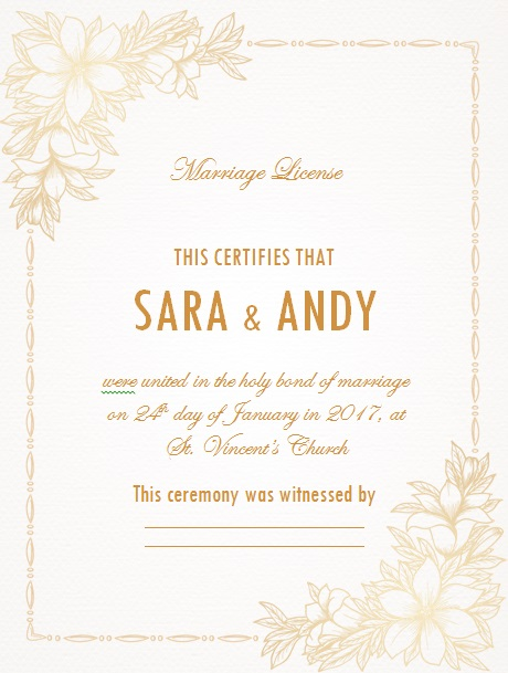 marriage certificate template 13