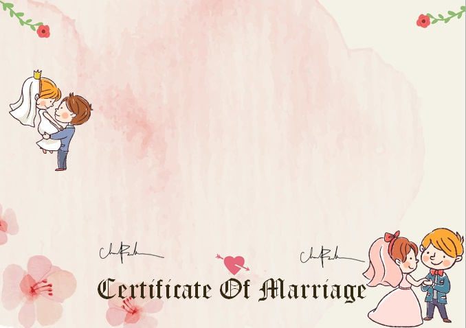 marriage certificate template 19