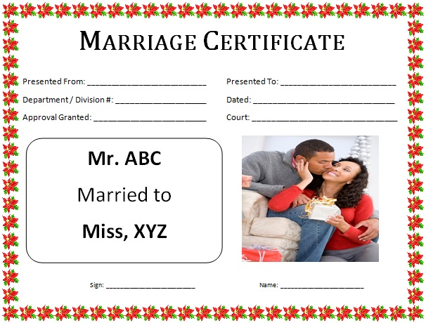 marriage certificate template 21