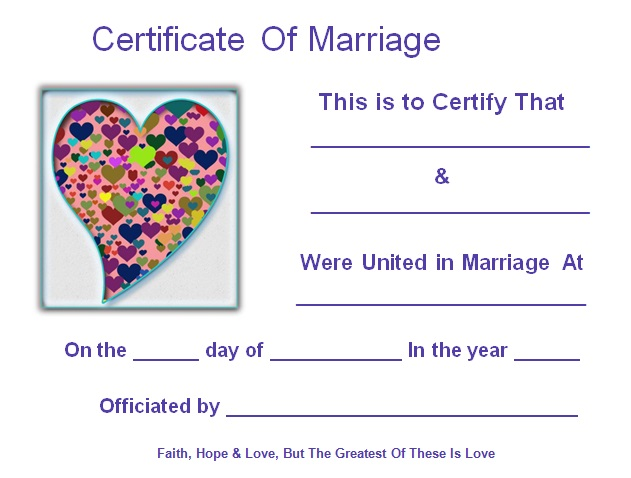 marriage certificate template 3