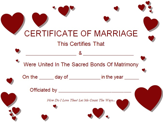 marriage certificate template 4