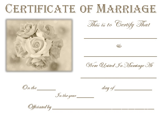 marriage certificate template 5