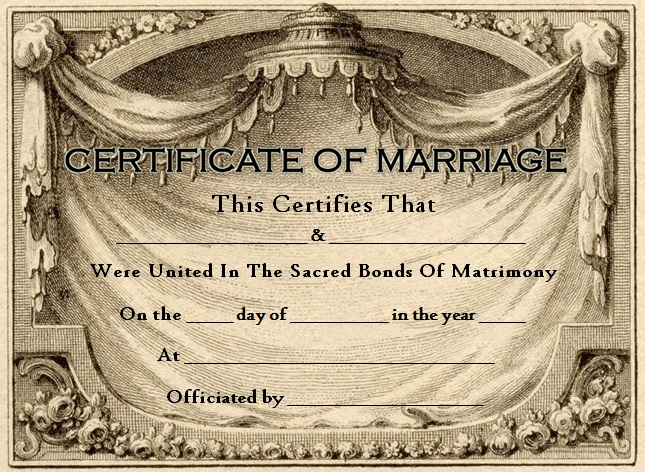 marriage certificate template 6