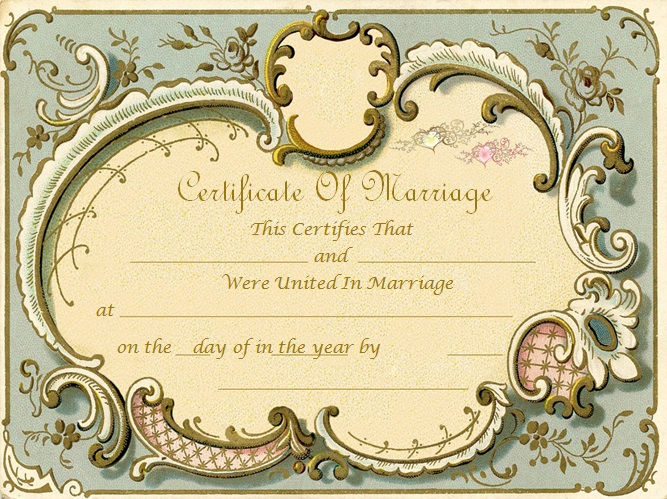 marriage certificate template 7