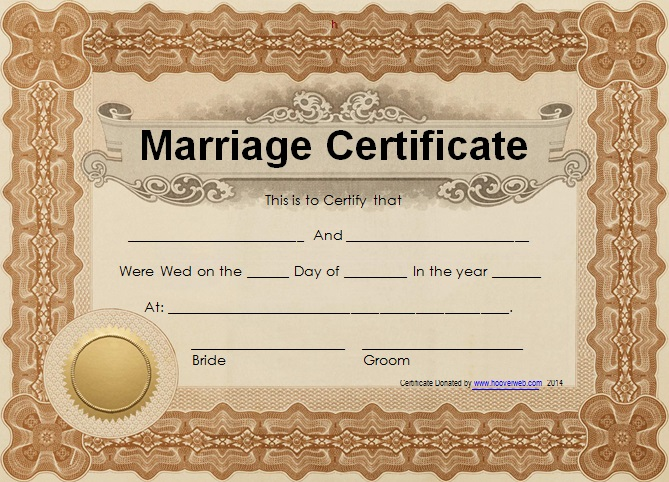 marriage certificate template 8