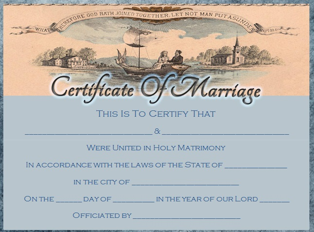 marriage certificate template 9
