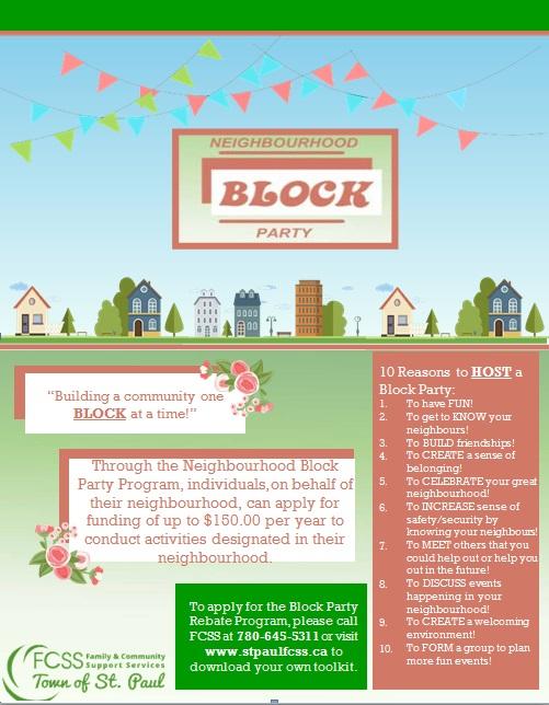 neighbourhood block party flyer