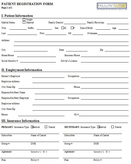 new patient registration form 13