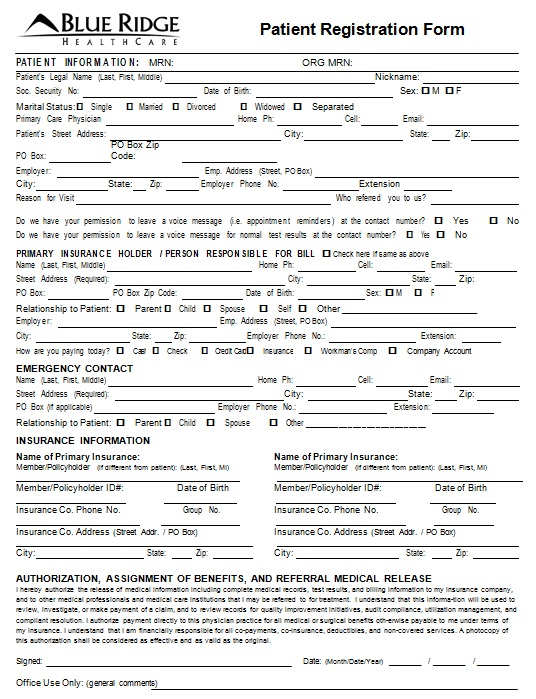 new patient registration form 21