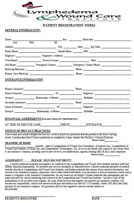 new patient registration form 30