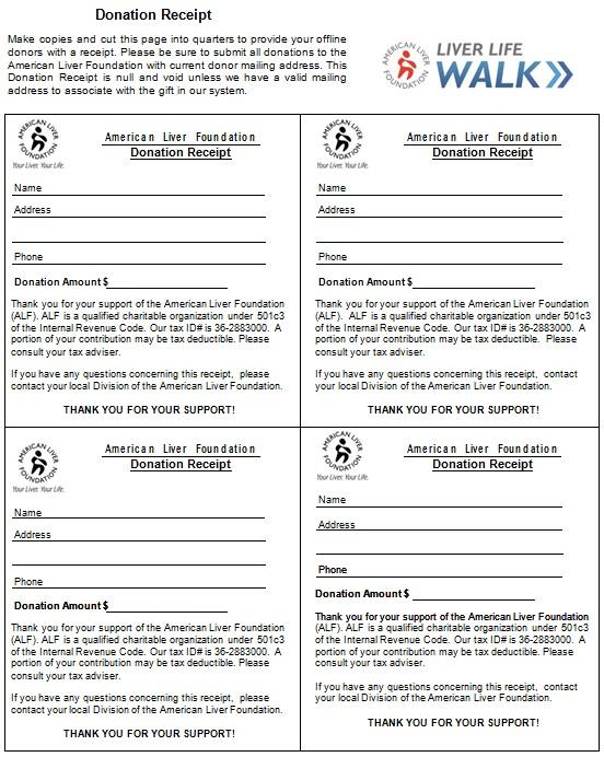 non profit donation receipt template 1
