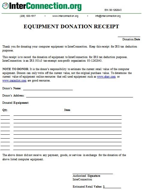 non profit donation receipt template 14