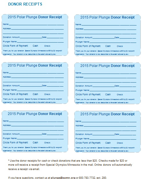 non profit donation receipt template 16