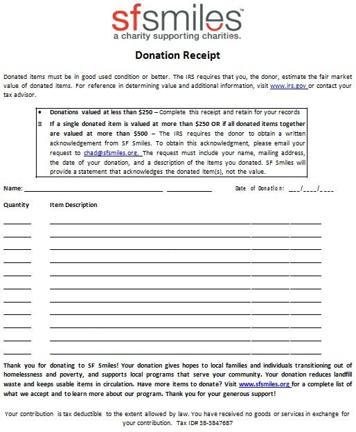 non profit donation receipt template 18