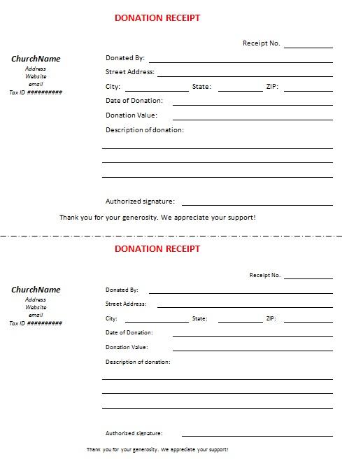 non profit donation receipt template 21